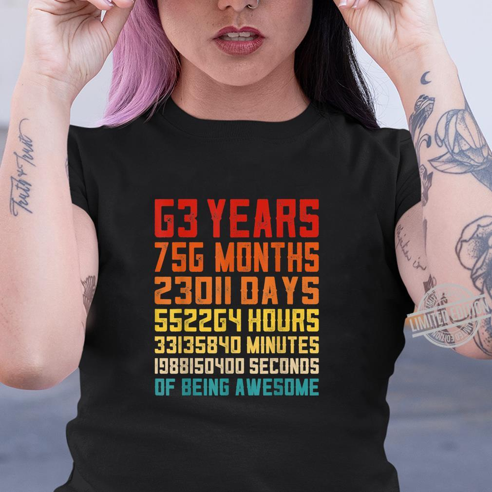 63rd Birthday Retro Vintage 63 Years Old 756 Months Shirt