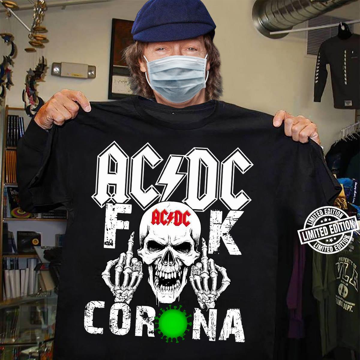 AC DC Skull Fuck Corona Shirt