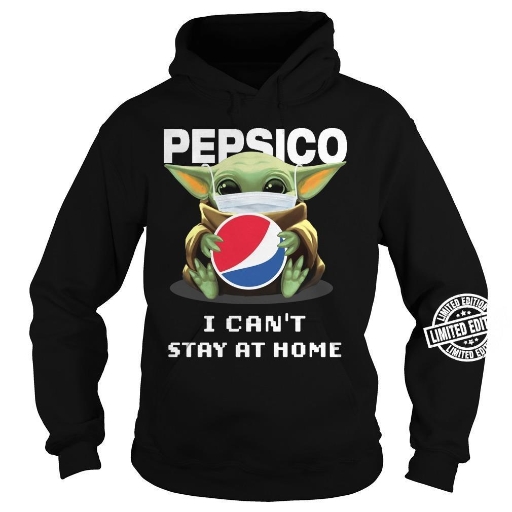 Baby Yoda Hug Pepsico I can't stay at home shirt