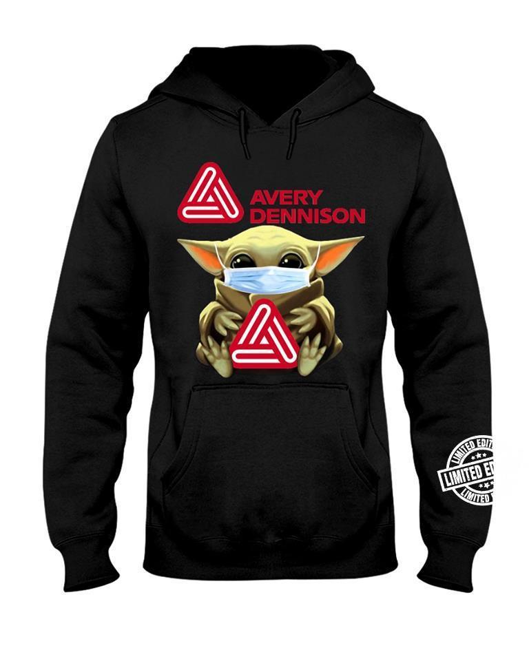 Baby Yoda face mask hug Avery dennison shirt