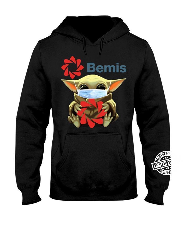 Baby Yoda face mask hug Bemis shirt