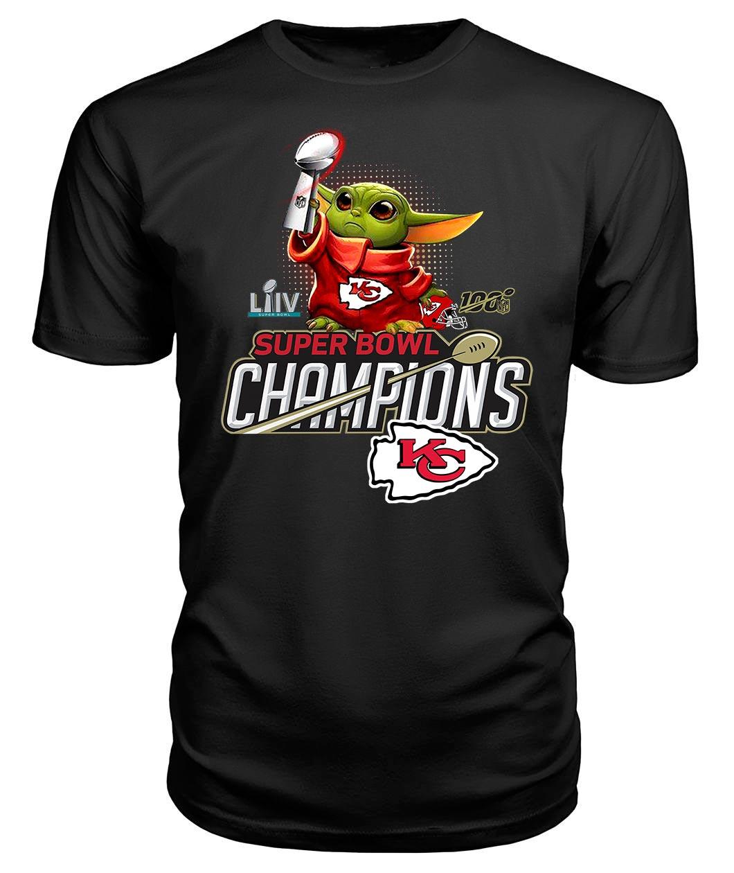 Baby Yoda super bowl champions shirt