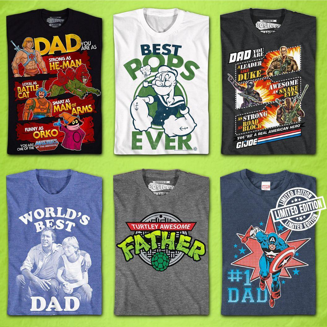 Best pops ever Turtley awesome father #1 dad World's best dad shirt
