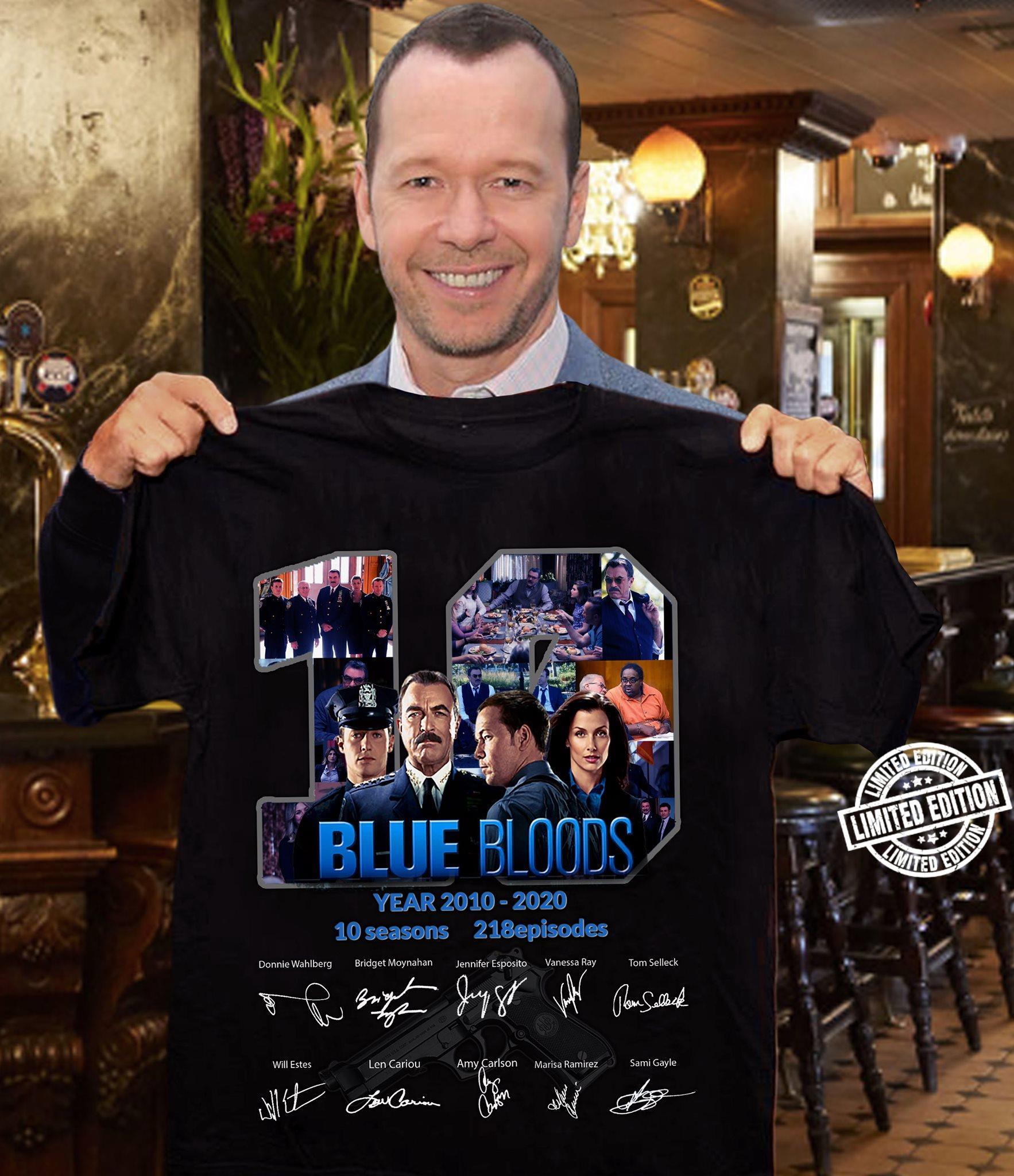 Blue bloods 10 year 2010 - 2020 10 seasons 218 episodes shirt