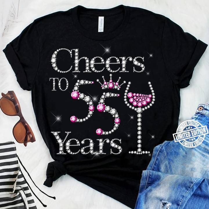 Cheers to 55 years diamond shirt