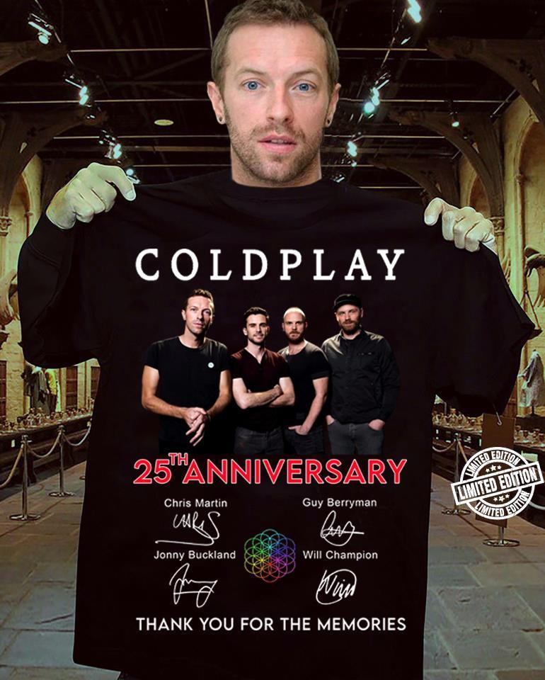 Coldplay 25 th anniversary thank you for the memories shirt