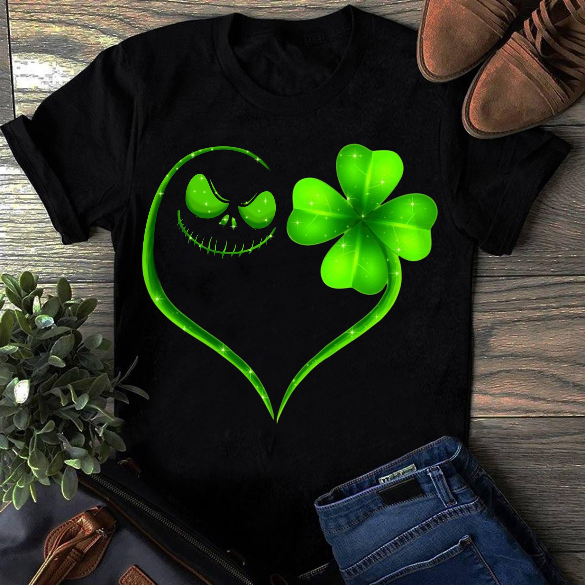 Heart Skellington Irish Shirt